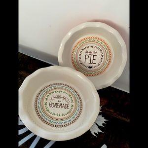 Pie dish- set of 2